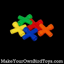 Small Plastic 4 Way Cross